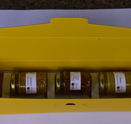 Geschenkkarton gelb