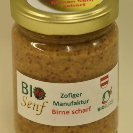 Zofiger Manufaktur Bio-Senf Birne scharf