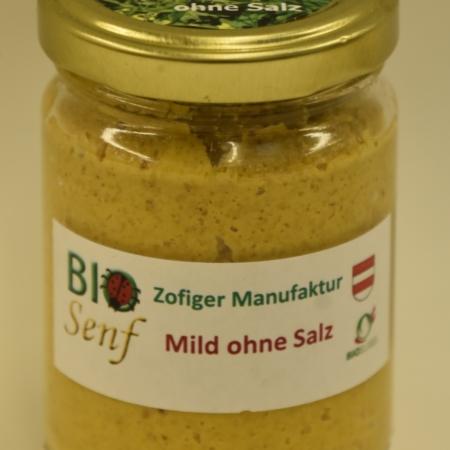 Zofiger Manufaktur Bio-Senf mild ohne Salz