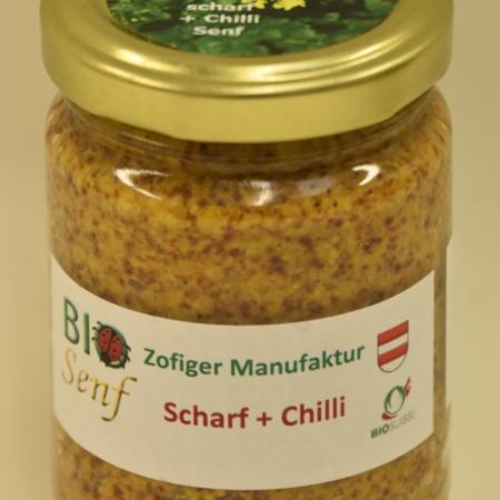 Zofiger Manufaktur Bio-Senf scharf + Chili