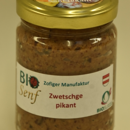 Zofiger Manufaktru Bio-Senf Zwetschge pikant
